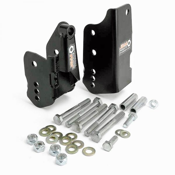 05-14 Ford Mustang GT/GT500/V6 Lower Control Arm Relocation Brackets Black J&M Products Made in the USA