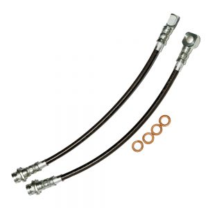 Camaro/Firebird Brake Hose Kit Clear Outer Coating 93-97 Camaro/Firebird Front Stainless Steel J&M Products
