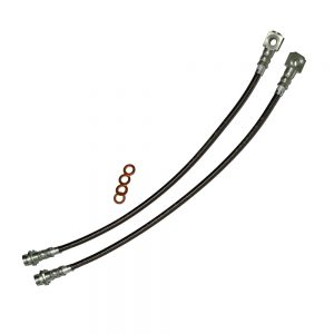 Camaro/Firebird C5 Brake Hose Kit Clear Outer Coating Front 93-97 Camaro/Firebird Stainless Steel J&M Products