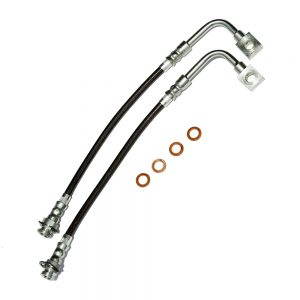 Camaro/Firebird C5 Brake Hose Kit Clear Outer Coating Front 98-02 Camaro/Firebird Stainless Steel J&M Products