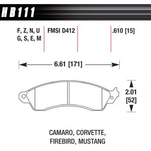 HB 111 Pad Plate Dimensions