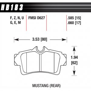 HB183 pad plate dimensions