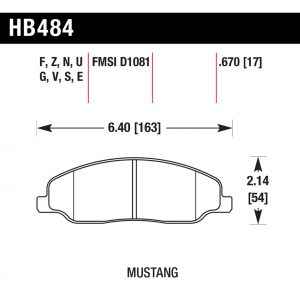 484 Pad plate dimensions