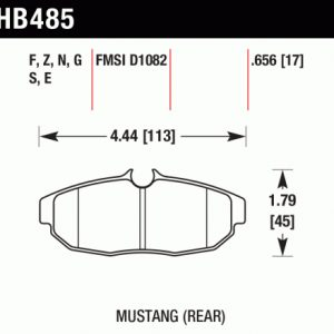 HB 485 pad plate drawing