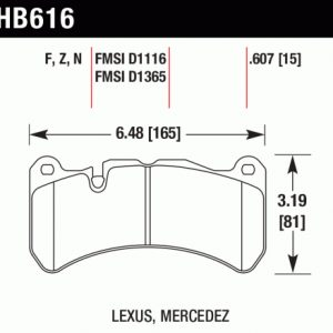 HB 616 Pad Plate Dimensions