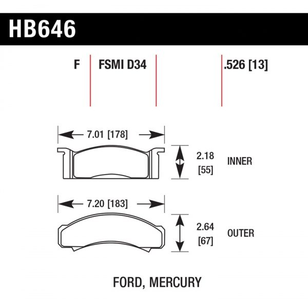 HB 646 pad plate dimensions
