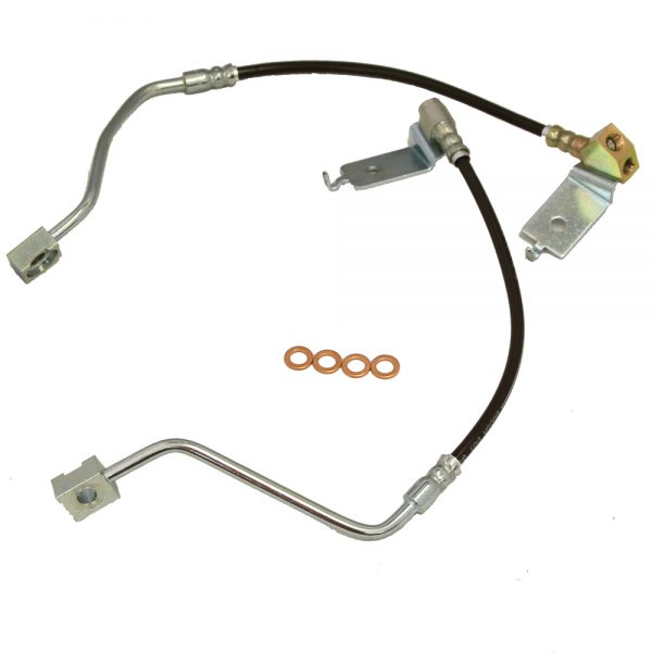 Mustang Brake Hose Kit Direct Fit 96-98 Ford Mustang Stainless Steel J&M Products