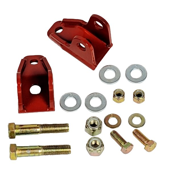 1982-2002 Camaro Firebird F-Body Rear Lower Coil-Over Kit Brackets Red