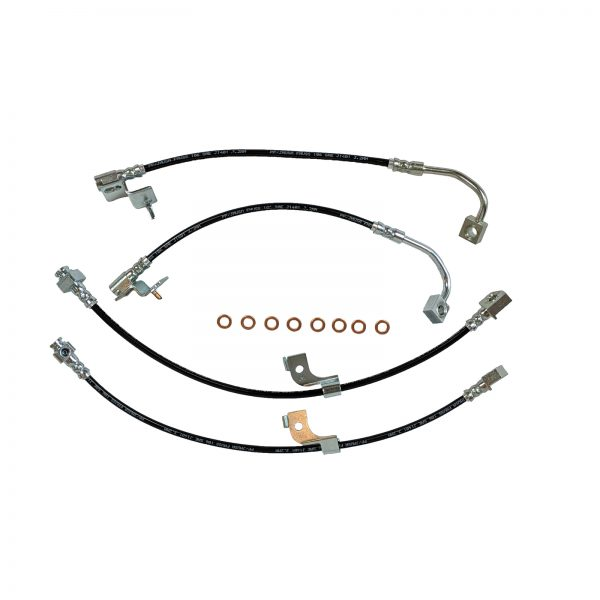 2015-Present Stainless Steel Teflon Lined Brake Hose Kit With Black Outer Cover