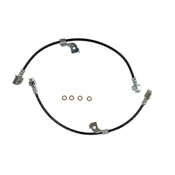 2015-Present Ford Mustang Stainless Steel Teflon Lined Rear Brake Hose Kit With Black Cover